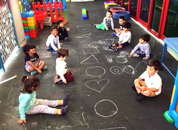 creative activity indoors at Learning Ladder Nursery in Jumeirah Lakes towers, Cluster Q