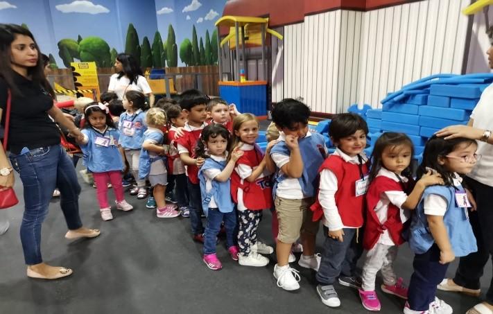 Nursery children on City Walk